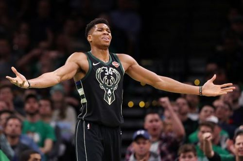 Milwaukee Bucks' Giannis Antetokounmpo has the second most fan votes as a 2018 - 2019 NBA All-Star