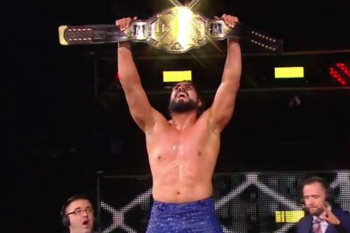 Andrade when he first won the NXT Championship.