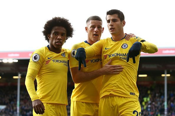 Willian (L) has attracted interest from Barcelona once again