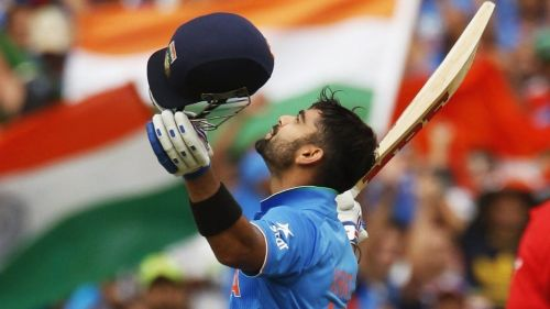 Kohli scored the fastest century by an Indian in ODIs