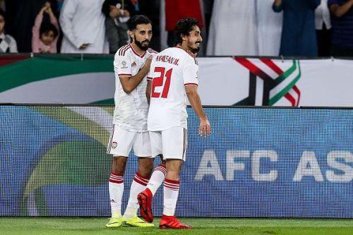 Khalfan Mubarak gave the UAE the lead against the run of play