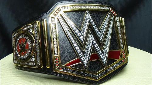 The current WWE belt design