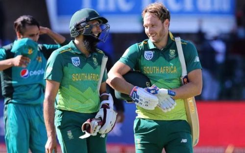 Hashim Amla and van der Dussen were key performers in the first ODI.