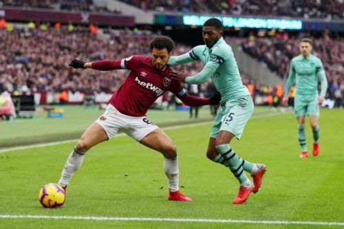 West Ham played host Arsenal at the London stadium