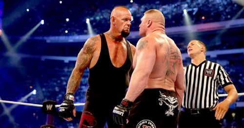 Despite making amends, The Deadman was furious at Lesnar for leaving the company in 2004
