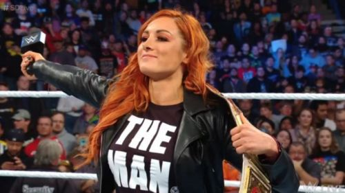 The Man when she was the Smackdown Women's Champion