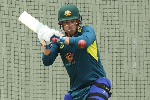 Australia's Aaron Finch during a training session