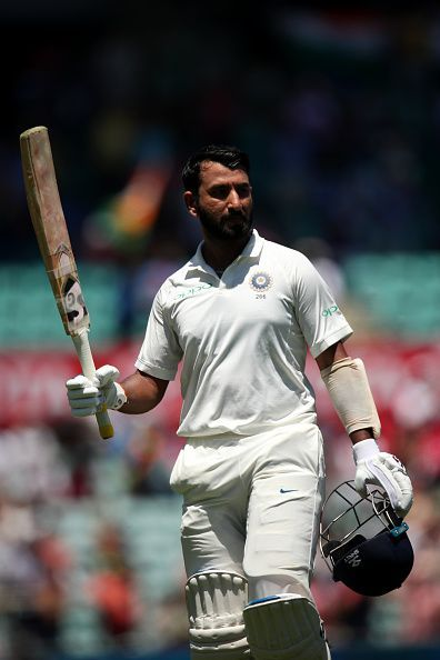 Pujara's 193 was instrumental in India's score of 622/7