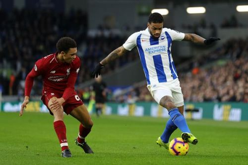 The Liverpool right-back picked up a knock in the warm-up of their game against Brighton