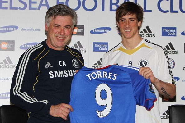 Ancelotti signed Torres in 2011
