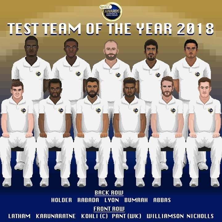 Test team of the year 2018