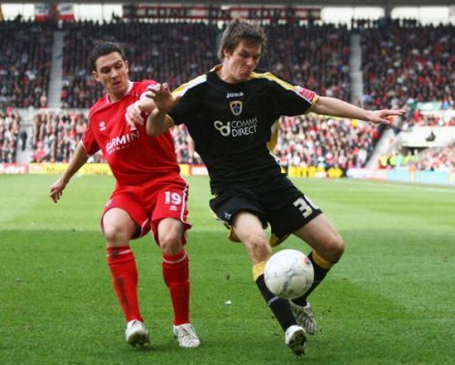 Aaron Ramsey in action for Cardiff City as a teenager