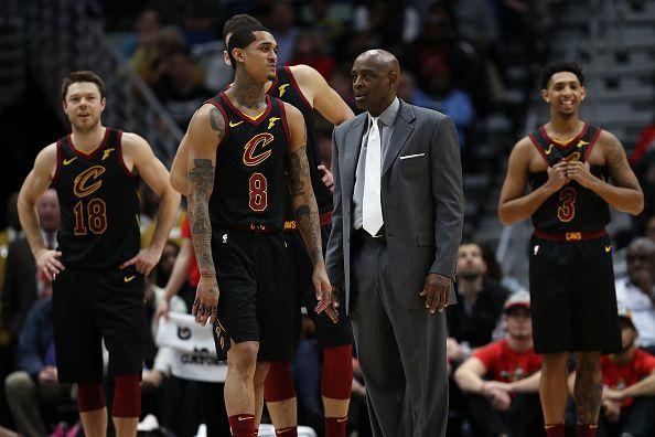 NBA 2018-19  Cleveland Cavaliers  predicted starting lineup against ... 77b1d44c4