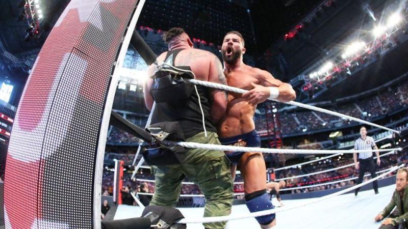 Roode attacks Rezar as Maverick looks on