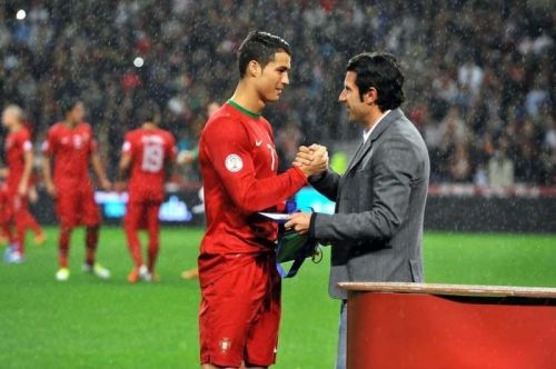 Luis Figo and Cristiano Ronaldo are two legends of Portuguese football