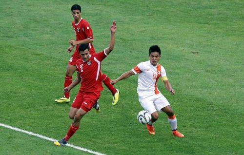Sunil Chhetri in action
