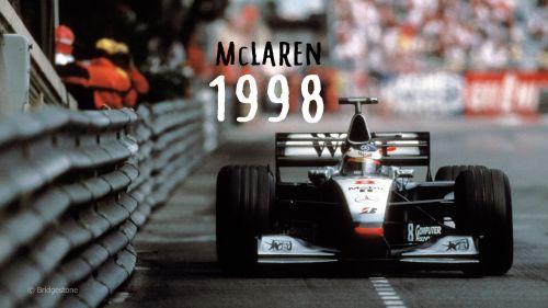 McLaren's MP4-13 designed by Adrian Newey in Monaco