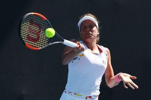 2019 Australian Open - Day 1 - Yulia Putintseva from Kazakhstan