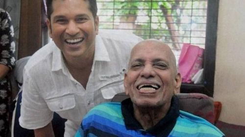 Sachin Tendulkar and Ramkant Achrekar (Image credits: PTI)