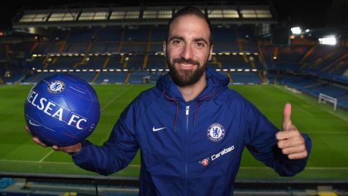 Higuain joined Chelsea on loan for the rest of the season