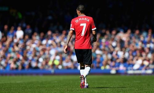 Di Maria took the iconic no. 7 jersey at United