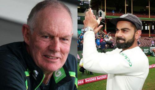 Chappell (left) has high praise for Kohli's attitude
