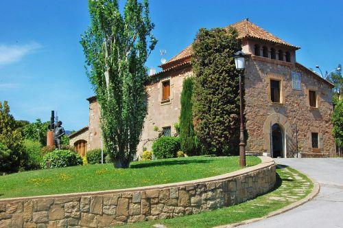 The main façade of La Masia