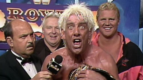 Ric Flair delivers his post-Rumble victory promo