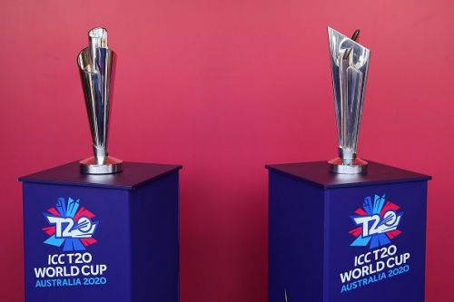 ICC 2020 T20 World Cup trophies