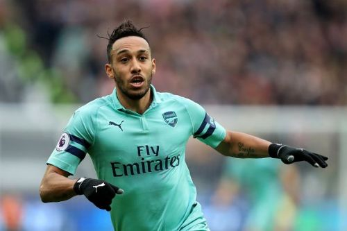 Arsenal striker Aubameyang in action in the Premier League