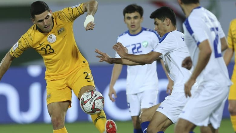 The Uzbekistan players gave a very good account of themselves in the defense