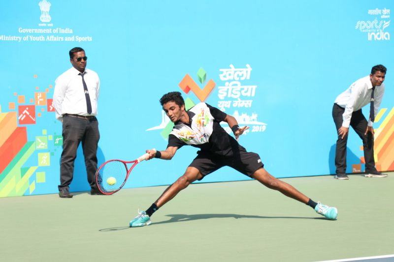 Manish Sureshkumar (Tamil Nadu), U-21 Singles Tennis gold medallist at Khelo India School Games