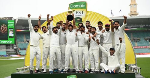 India scripted history after defeating the Aussies in a Test series at their own backyard