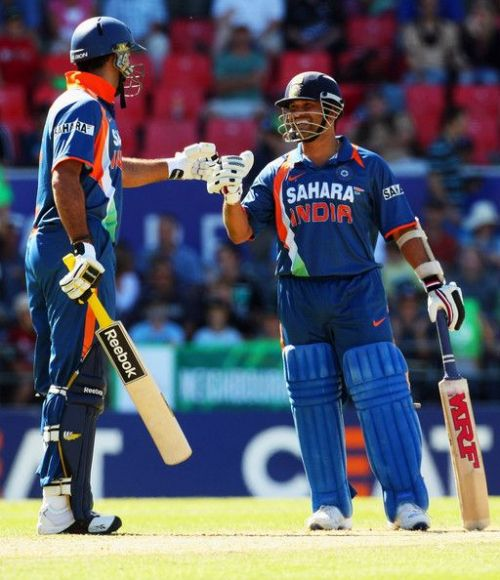 Image result for sachin tendulkar and virender sehwag in 2009 new zealand tour odis