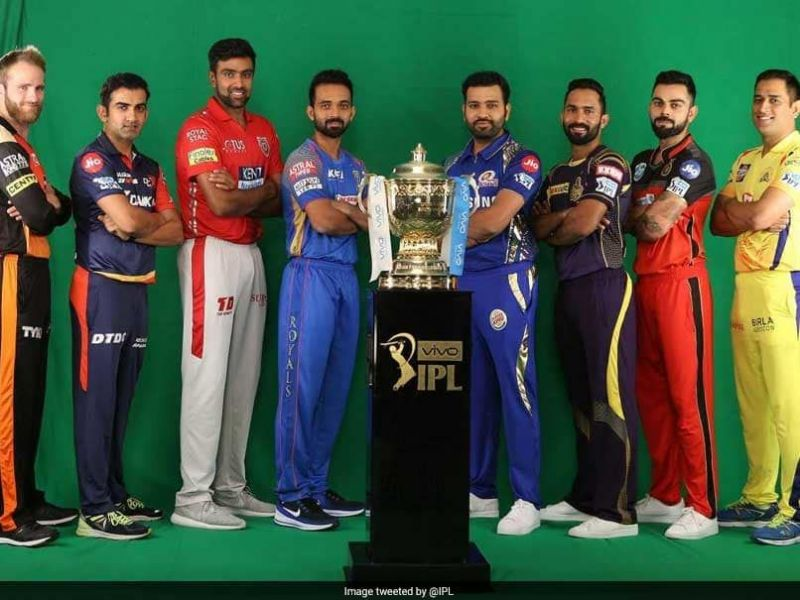 Captains with IPL Trophy