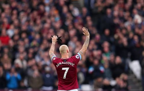 Marko Arnautovic was left out of the West Ham United squad.