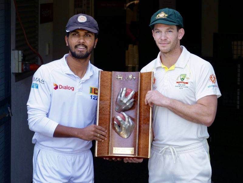 Aus vs Sl test trophy