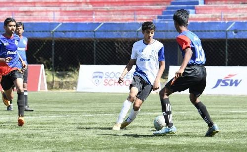Action from Day 5 of the Boost BFC Inter-School Soccer Shield
