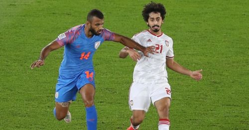 Mabkhout goal seals a 2-0 victory for UAE against India in the AFC Asian Cup, 2019