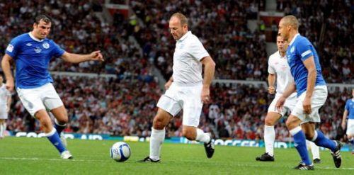 Alan Shearer in an exhibition match
