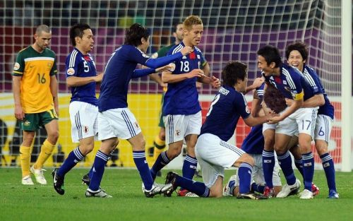 Representative Image.The Japan team celebreate a goal