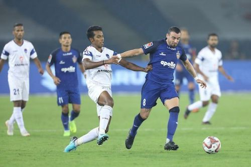 Carlos Salom in action for Chennaiyin