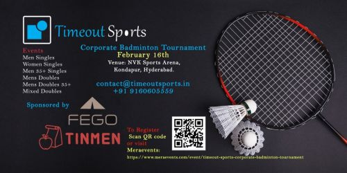Timeout Sports - Corporate Badminton Tournament