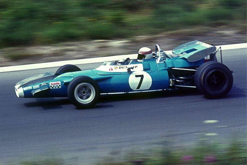 Sir Jackie Stewart driving the Matra-Fordin 1969