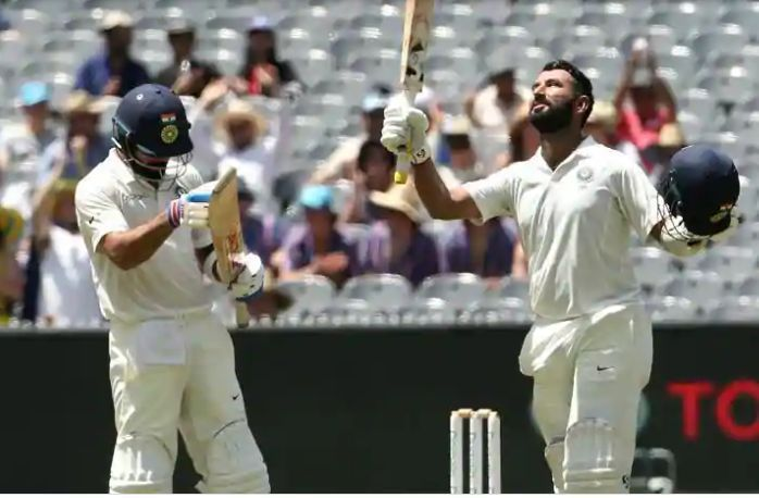Skipper Virat Kohli lauds Cheteshwar Pujara after he notched up his century.