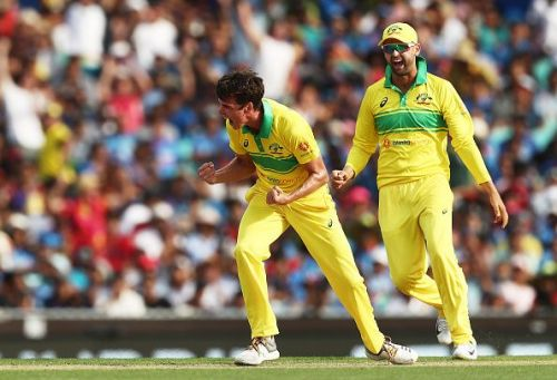 Jhye Richardson's splendid new ball spell rattled India's top-order