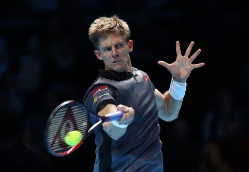Anderson's powerful forehand on display