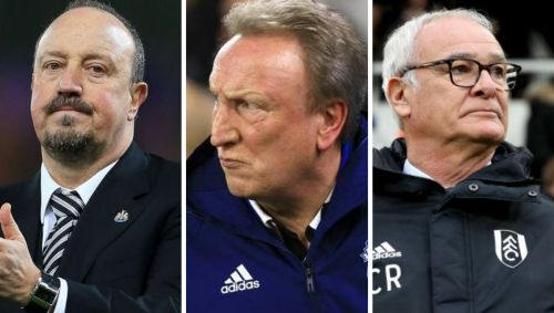 (Left to right): Rafa Benitez, Neil Warnock, Claudio Ranieri