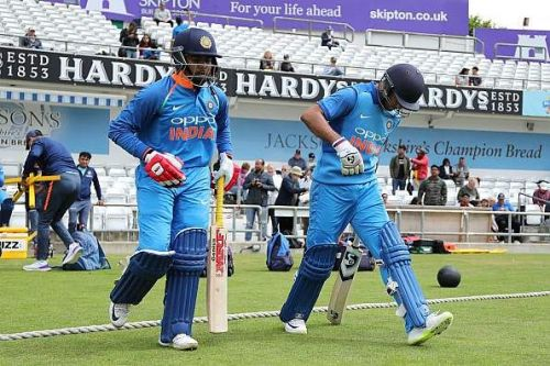 India's upcoming star batsmen- Prithvi Shaw(L) and Mayank Agarwal(R) opening the batting for India A