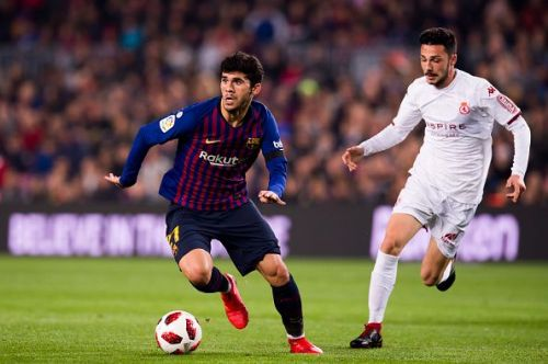 Alena in Copa del Rey action earlier this season